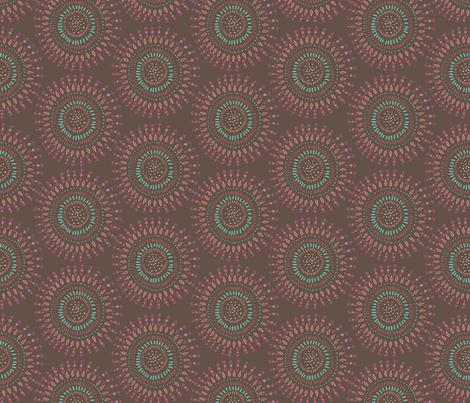 Boho Tribal Circles - Brown Earth - Large Scale fabric by bohemiangypsyjane on Spoonflower - custom fabric
