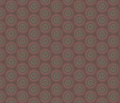 Boho Tribal Circles - Brown Earth - Small Scale fabric by bohemiangypsyjane on Spoonflower - custom fabric