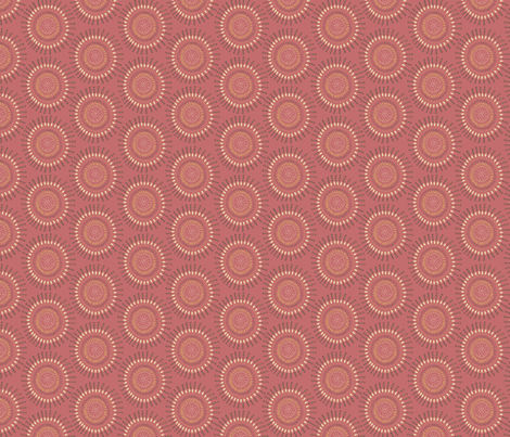 Boho Tribal Circles - Coral Clay - Small Scale fabric by bohemiangypsyjane on Spoonflower - custom fabric
