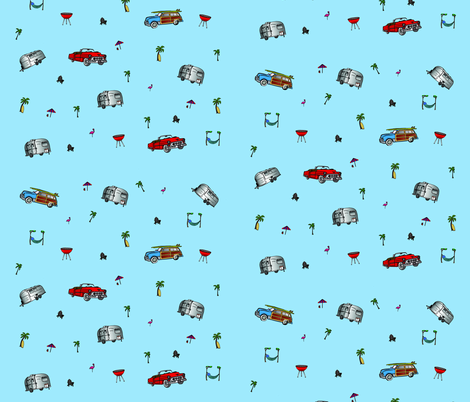 Classic travel trailers fabric by an_american_stream on Spoonflower - custom fabric