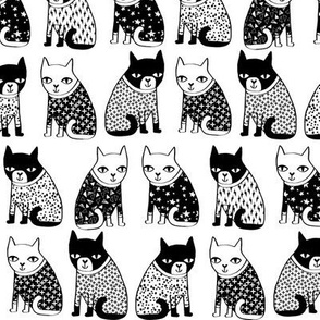 cat // sweater cats black and white sweater cats kitten kitty cute cats