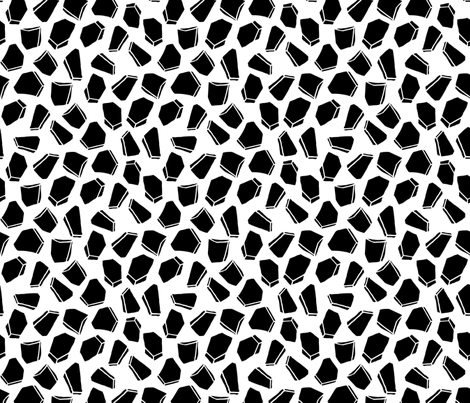 Gems // geometric black and white modern shapes fabric by andrea_lauren on Spoonflower - custom fabric