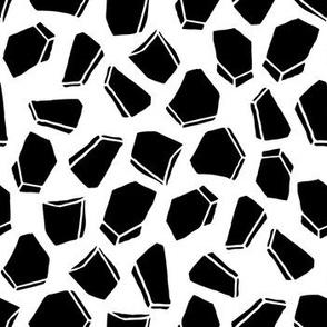 Gems // geometric black and white modern shapes