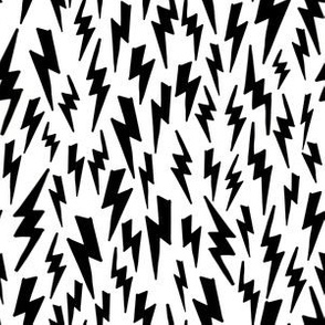 Lightning Bolt // bolt black and white modern baby nursery bedding quilt