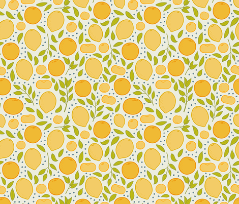Citrus - Beige fabric by jaymehennel on Spoonflower - custom fabric