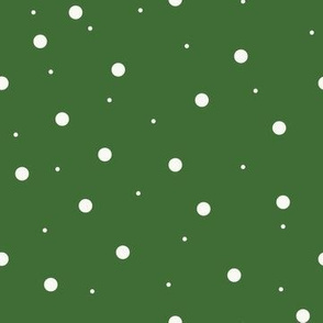 Dark Green with White Dots