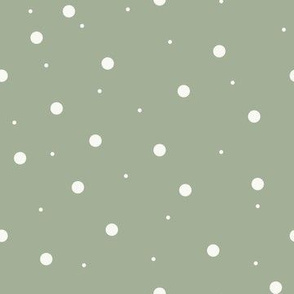 Light Green with White Dots