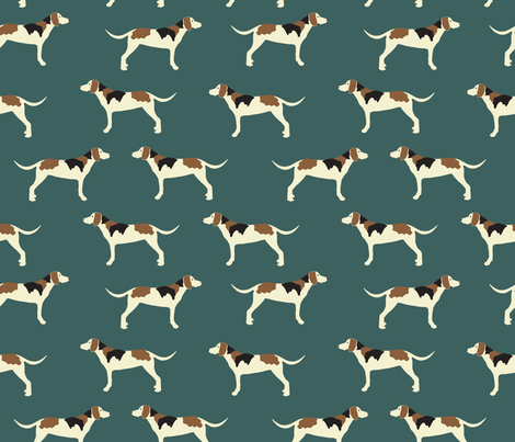 Tree Walker Coonhound fabric by vieiragirl on Spoonflower - custom fabric