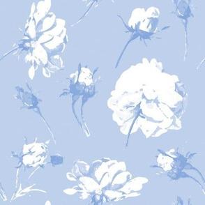 Elsie Watercolor Roses in blueberry