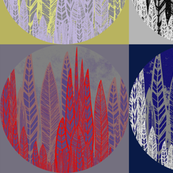 Four Circles Flax Leaves