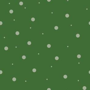 Dark Green with Light Green dots