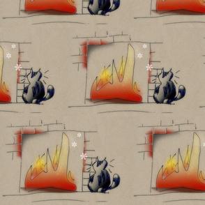 cat@fireplace