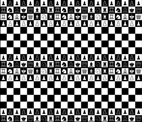 Chess fabric by thinlinetextiles on Spoonflower - custom fabric