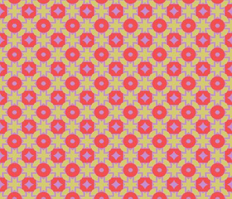Mosaic in Bright fabric by mewolf11 on Spoonflower - custom fabric