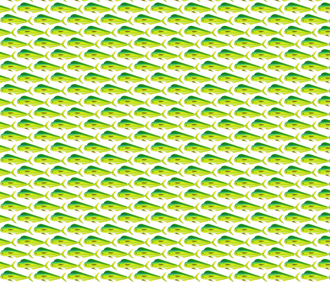Mahi-Mahi Dolphinfish pattern fabric by combatfish on Spoonflower - custom fabric