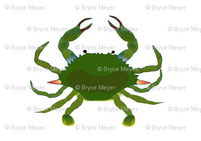 Simple Blue Crab Pattern
