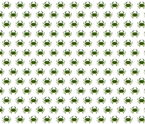 Simple Blue Crab Pattern fabric by combatfish on Spoonflower - custom fabric