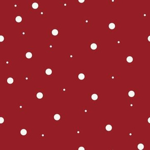 Dark Red with White Dots