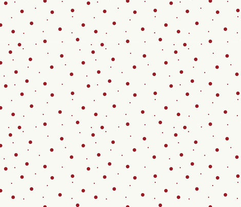 White with Dark Red Dots fabric by mrscundiff on Spoonflower - custom fabric