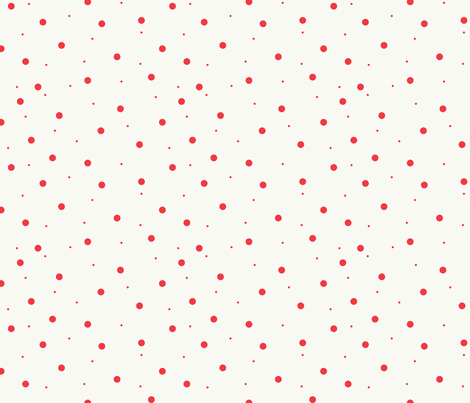 White with Light Red Dots fabric by mrscundiff on Spoonflower - custom fabric