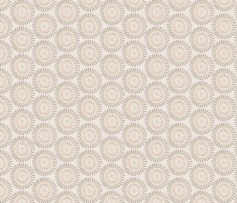 Boho Tribal Circles - Cream - Small Scale fabric by bohemiangypsyjane on Spoonflower - custom fabric