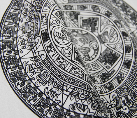 "Aztec Calendar on Mint - Small (2.5"")"