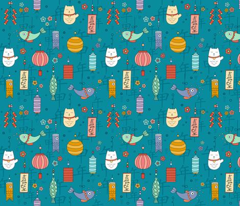 chinese-new-year fabric by la_fabriken on Spoonflower - custom fabric