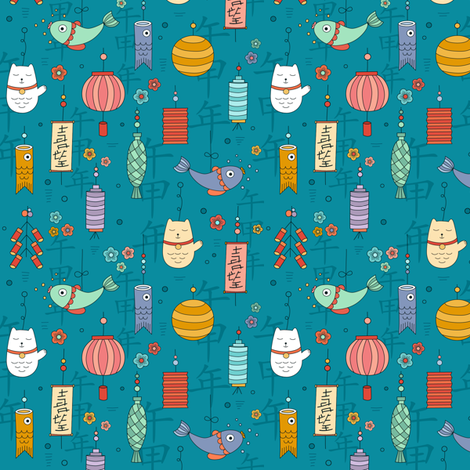 chinese-new-year fabric by la_fabriken on Spoonflower - custom fabric
