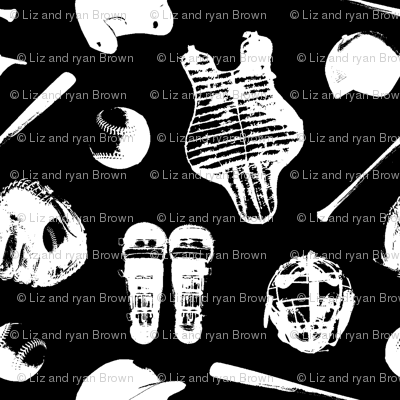 Baseball Gear on Black // Small