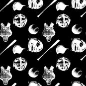 Baseball Gear - White on Black