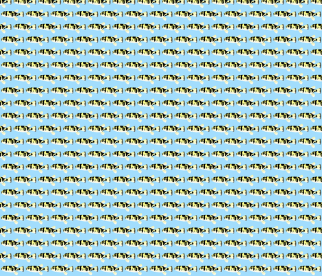 Amazon Puffer in blue fabric by combatfish on Spoonflower - custom fabric