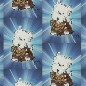Westie Warrior Princess