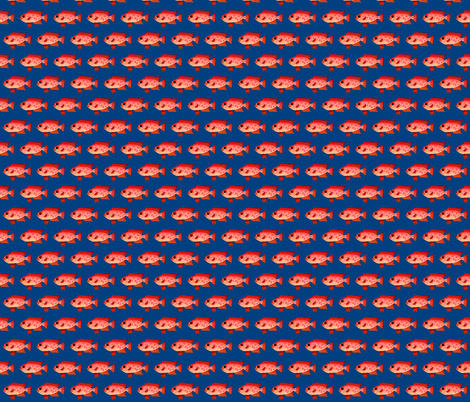 Glasseye Snapper Catalufa fish dk blue fabric by combatfish on Spoonflower - custom fabric