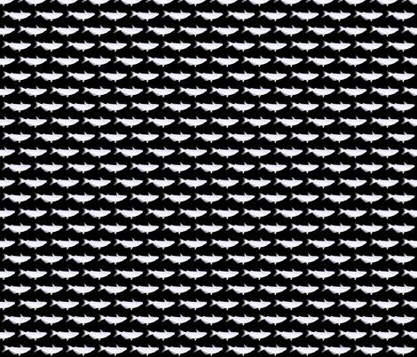 Blue Catfish in black fabric by combatfish on Spoonflower - custom fabric