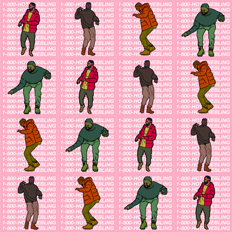 hotlinebling fabric by katie_starr on Spoonflower - custom fabric