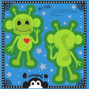 "TS - 4"" x 6"" Alien Monkey Cut & Sew Pillow Doll"