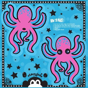 "TS - 4"" x 5"" Pink Octopus Cut & Sew Pillow Doll"