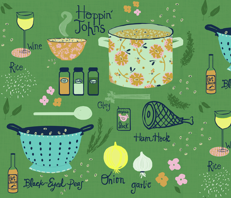 Hoppin' Johns fabric by fable_design on Spoonflower - custom fabric