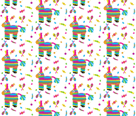 Pinata Confetti fabric by pumpkinbones on Spoonflower - custom fabric