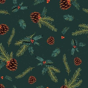 Pine & holly