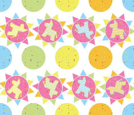 Tiempo de Fiesta fabric by linziloop on Spoonflower - custom fabric