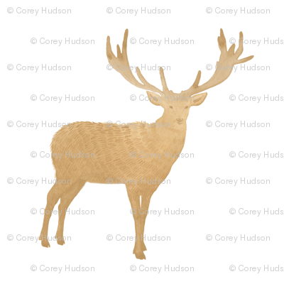 Golden Tan Rustic Deer