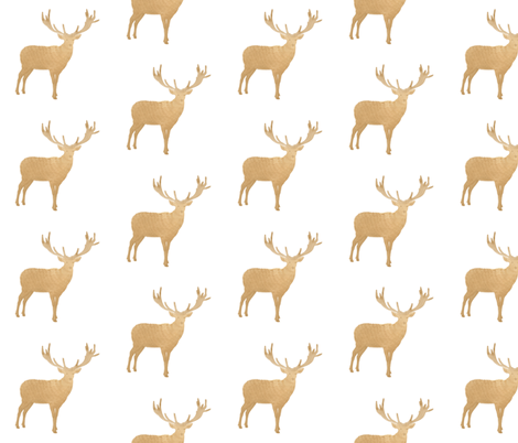 Golden Tan Rustic Deer fabric by hudsondesigncompany on Spoonflower - custom fabric