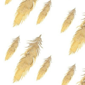 GOld Foiled Feathers / Metallic