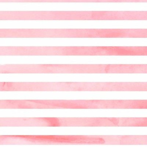Pink Watercolor Stripe