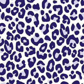 Navy Blue Cheetah Print