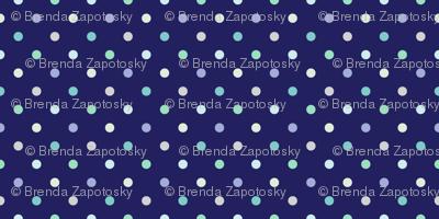 Cool dots on Dark Blue (Street)