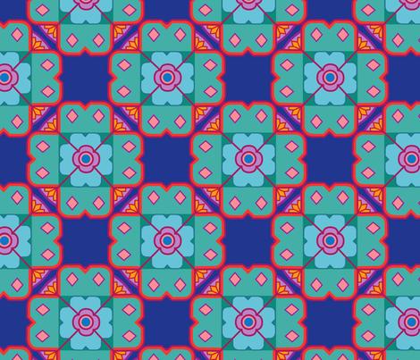 Mosaic Jewel fabric by designsld on Spoonflower - custom fabric