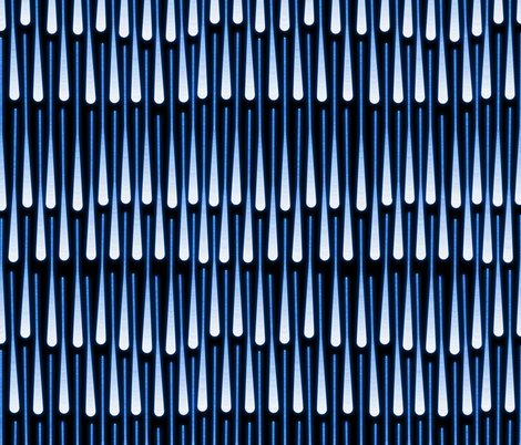 fireworks rain (blue) fabric by analinea on Spoonflower - custom fabric