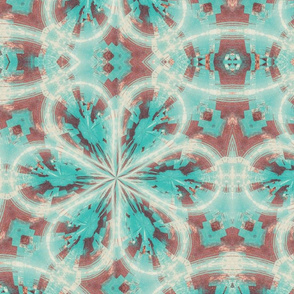 Turquois Floral 01
